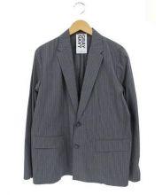 GRAY NAVY(グレーネイビー)の古着「STRIPE JK」|グレー