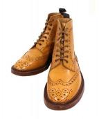 Trickers(トリッカーズ)の古着「ウィングチップブーツ」|ライトブラウン