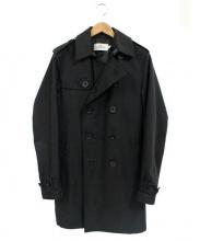 COACH(コーチ)の古着「ダブルトレンチコート」|ブラック