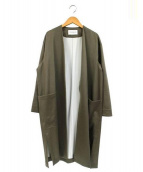 TOMORROWLAND(トゥモローランド)の古着「ノーカラーコート」|ベージュ