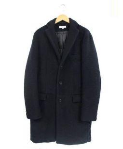 BEAUTY&YOUTH(ビューティアンドユース)の古着「ニット/メルトンパデッドチェスターコート」|ブラック