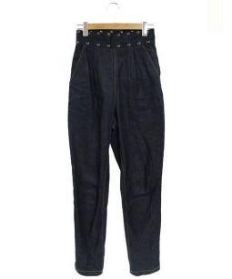 TOGA PULLA(トーガ プルラ)の古着「STUDS HIGH WAISTED DENIM PANTS」|インディゴ