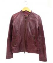 AVIREX(アヴィレックス)の古着「シングルライダースジャケット」 レッド