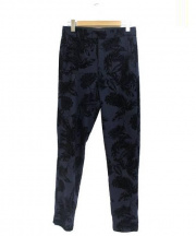 ALEXANDER WANG(アレキサンダーワン)の古着「フロッキー加工パンツ」|ネイビー×ブラック