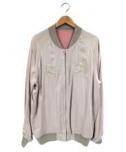 FREAKS STORE(フリークスストア)の古着「リバーシブルスカジャン」|ピンク