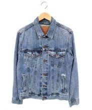 LEVIS(リーバイス)の古着「ダメージ加工デニムジャケット」|インディゴ