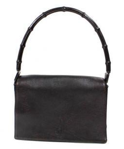 GUCCI(グッチ)の古着「バンブーレザーハンドバッグ」|ブラック