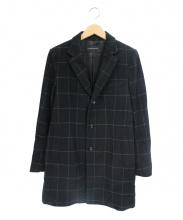 LOUNGE LIZARD(ラウンジリザード)の古着「チェスターコート」|ホワイト×ブラック