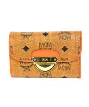 MCM(エムシーエム)の古着「レザー3つ折り財布」|キャメル