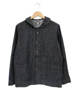 BLACK SIGN(ブラックサイン)の古着「デニムカバーオール」 ブラック