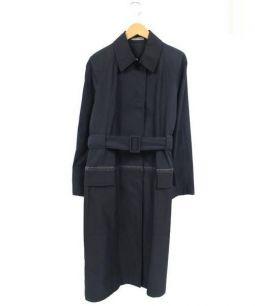 BOTTEGA VENETA(ボッテガベネタ)の古着「ロングコート」 ネイビー×ブラック