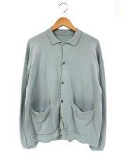 crepuscule(クレプスキュール)の古着「ニットシャツ」|エメラルドグリーン