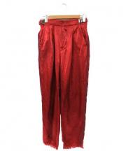 PONTI(ポンチ)の古着「サテンラインパンツ」 レッド
