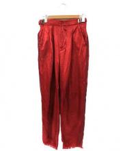 PONTI(ポンチ)の古着「サテンラインパンツ」|レッド