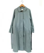 FRAMe WORK(フレームワーク)の古着「ロングステンカラーコート」 グリーン