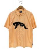 STUSSY(ステューシー)の古着「半袖シャツ」|オレンジ