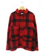 FILSON(フィルソン)の古着「マッキーノクルーザージャケット」|ブラック×レッド