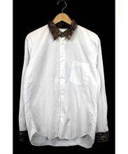 COMME des GARCONS(コムデギャルソン)の古着「ペイズリー切替長袖シャツ」|ホワイト