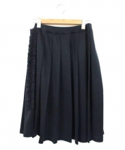 COMME des GARCONS(コムデギャルソン)の古着「フリルプリーツスカート」|ブラック