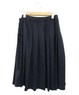 COMME des GARCONS(コムデギャルソン)の古着「フリルプリーツスカート」 ブラック