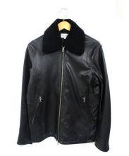 FREAKS STORE(フリークスストア)の古着「ボア付レザージャケット」|ブラック