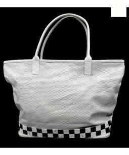 THREE FOR FREE(スリーフォーフリー)の古着「トートバッグ」|ホワイト×グレー