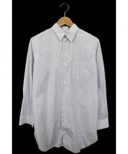 JUNYA WATANABE CDG(ジュンヤワタナベ コムデギャルソン)の古着「バックスリットロングストライプシャツ」 ホワイト×ブルー