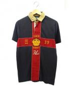 POLO RALPH LAUREN(ポロ バイ ラルフローレン)の古着「半袖ポロシャツ」|グレー×レッド