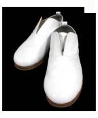 CABANE de ZUCCa(カバン・ドズッカ)の古着「レザーバレエシューズ」 ホワイト