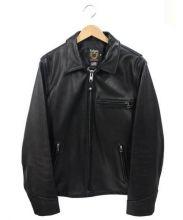 SCHOTT BROS.(ショットブロス)の古着「シングルライダースジャケット」 ブラック
