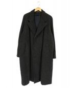 MENS BIGI(メンズビギ)の古着「ロングコート」|ブラウン×ブラック