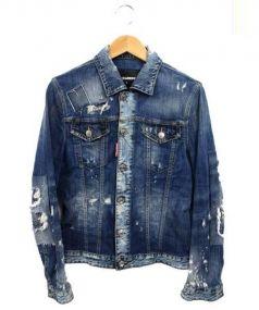 DSQUARED2(ディースクエアード)の古着「ダメージ加工デニムジャケット」|インディゴ