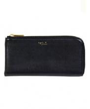 agnes b(アニエスベー)の古着「ラウンドファスナー財布」|ブラック