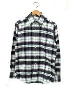 BLACK FLEECE BY Brooks Brothers(ブラック フリース バイ ブルックス ブラザーズ)の古着「チェックBDシャツ」|ホワイト×ブラック