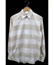 BLACK FLEECE BY Brooks Brothers(ブラック フリース バイ ブルックス ブラザーズ)の古着「チェックBDシャツ」|ベージュ×ホワイト