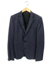 LOUNGE LIZARD(ラウンジリザード)の古着「2Bテーラードジャケット」|ネイビー