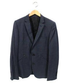 LOUNGE LIZARD(ラウンジリザード)の古着「2Bテーラードジャケット」 ネイビー