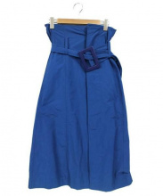 TOGA PULLA(トーガ プルラ)の古着「ポリエステル Ox スカート」|ブルー