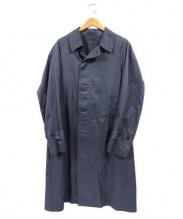 Scye(サイ)の古着「高密度コットンサテンステンカラーコート」 ネイビー