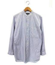 COMME des GARCONS HOMME(コムデギャルソンオム)の古着「バンドカラーシャツ」|ホワイト×ブルー