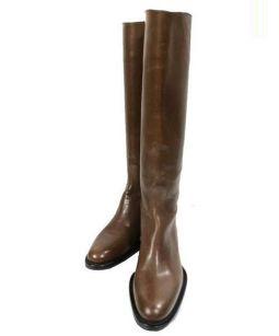SARTORE(サルトル)の古着「バックルベルトロングブーツ」|ブラウン