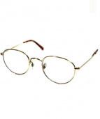Buddy Optical(バディーオプティカル)の古着「伊達眼鏡」|ゴールド×ブラウン