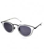 金子眼鏡×ISSEY MIYAKE(カネコメガネ×イッセイミヤケ)の古着「サングラス」|ブラック×ホワイト