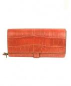 Felisi(フェリージ)の古着「クロコ型押しレザー長財布」|ブラウン