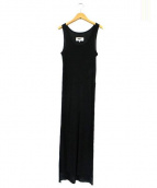 MM6(エムエムシックス)の古着「サイドスリットノースリーブリブワンピース」|ブラック