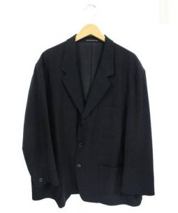 Yohji Yamamoto(ヨウジヤマモト)の古着「3Bテーラードジャケット」 ブラック