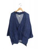 J.S.HOMESTEAD(J.S.ホームステッド)の古着「リネンデニム作務衣ジャケット」