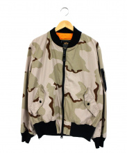 ALPHA(アルファ)の古着「MA-1ジャケット」 ベージュ