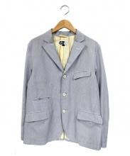 Engineered Garments(エンジニアードガーメンツ)の古着「3Bテーラードジャケット」|ブルー×ホワイト