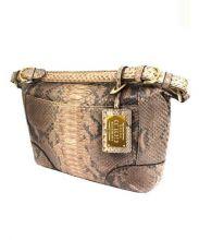 cococelux gold(ココセリュックスゴールド)の古着「パイソン2WAYバッグ」|ブラウン